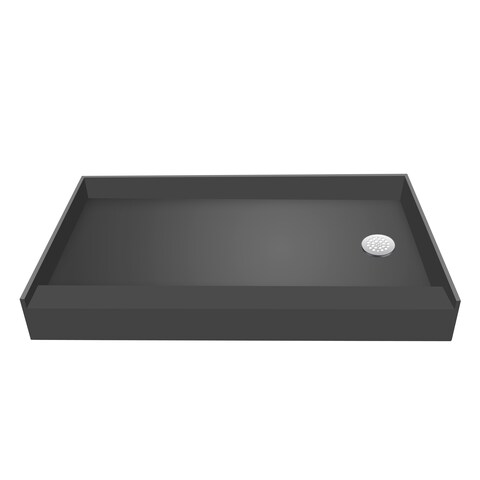 Redi Base 30 x 48 Single Curb Shower Pan With Right Drain