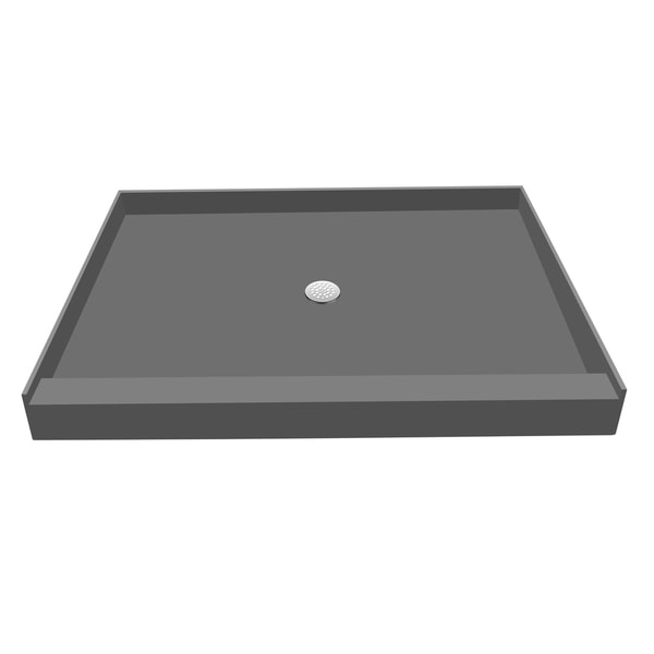Redi Base 48 x 60 Single Curb Shower Pan With Center Drain