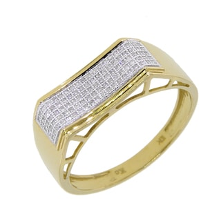 10k Yellow Gold 1/4ct TDW Diamond Men's Ring (G-H, I2-I3)