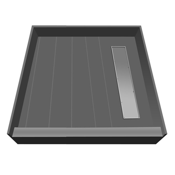 Redi Trench 42 X 42 Shower Pan Right Tileable Trench