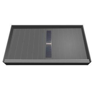 Redi Trench 36 x 48 Shower Pan Center Solid BN Linear Drain