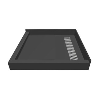 Redi Trench 42 x 42 Shower Pan Right PC Trench L Dual Curb