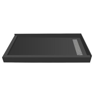 Redi Trench 34 x 60 Shower Pan Right BN Trench L Dual Curb