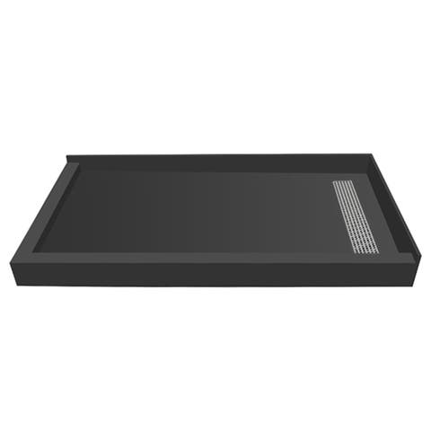 Redi Trench 36 x 42 Shower Pan Right BN Trench L Dual Curb