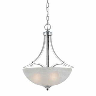 Lumenno Transitional 3-light Plated Chrome Pendant