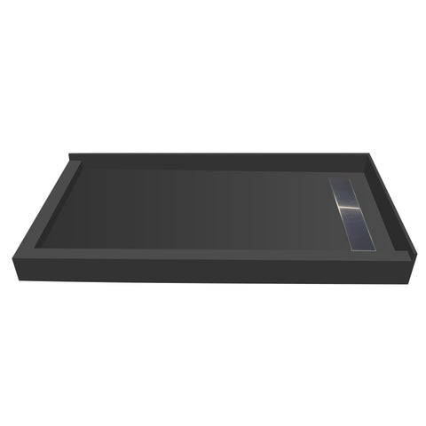 Redi Trench 30 x 48 Pan Right Solid BN Trench L Dual Curb