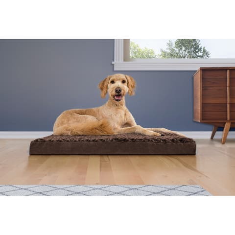 FurHaven Pet Bed Ultra Plush Deluxe Memory Foam Mattress Dog Bed