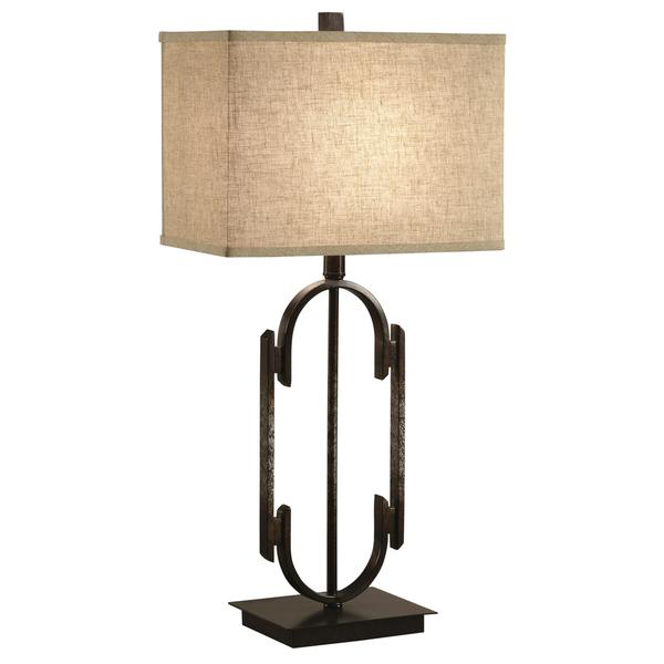 Transitional Open Base Table Lamp with Rectangular Shade