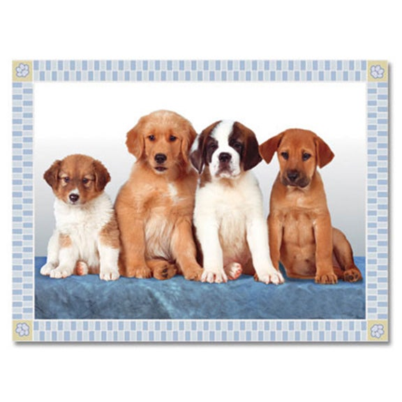 Puppies Large Pet Mat (Large - Puppies), Red