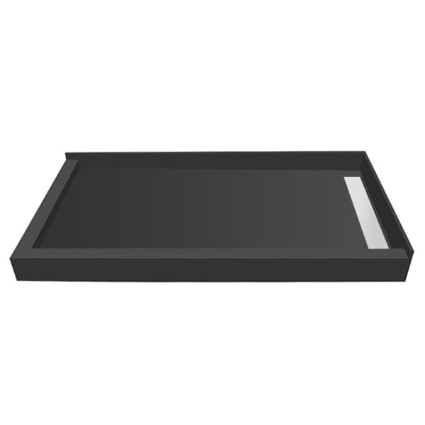 WonderFall Trench 36 x 48 Shower Pan Right Drain Left Dual Curb