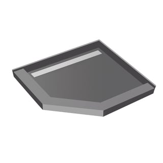 Redi Neo 40 x 40 Redi Trench Pan Left Solid BN Trench