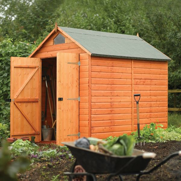 English garden 8 39 x 6 39 wood storage shed free shipping for Garden shed 4 x 8