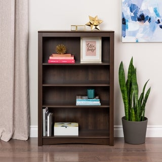 Ellsworth Espresso 4-shelf Bookcase