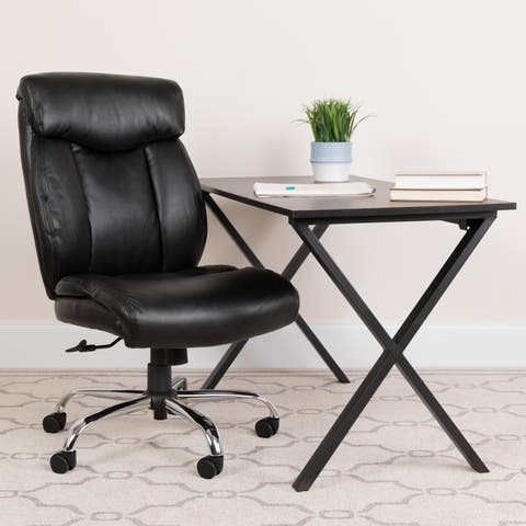 Hercules Series 400-pound Capacity Big and Tall Black Leather Office Chair