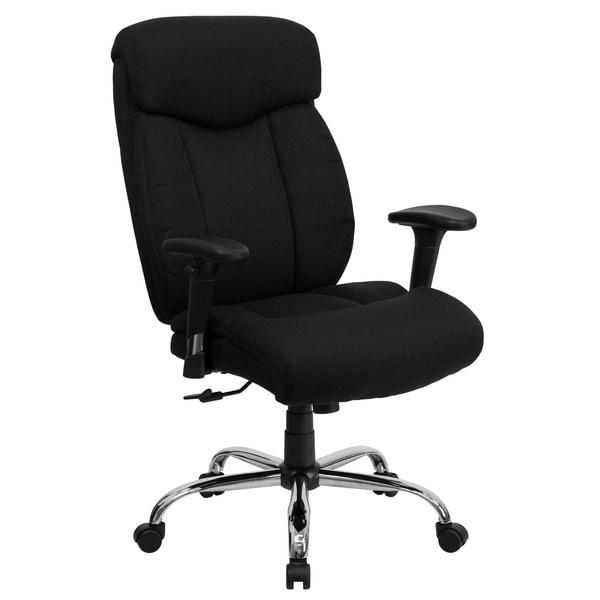 Big & Tall 400 lb. Rated High Back Black Fabric Executive Ergonomic Chair