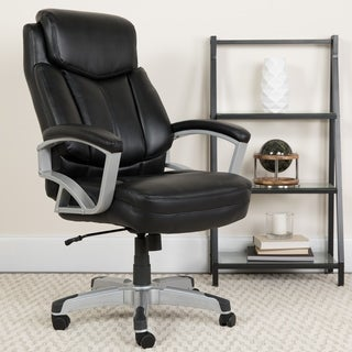 Big & Tall 500 lb. Rated Black LeatherSoft Executive Ergonomic Office Chair