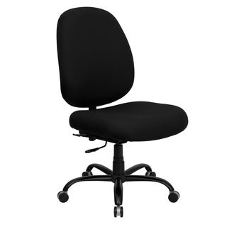 Hercules Series Big and Tall Black Fabric 400-pound Capacity Office Chair with Extra Wide Seat