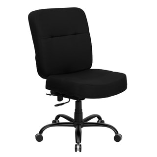 Hercules Series 400-pound Capacity Big and Tall Black Fabric Office Chair with Extra Wide Seat