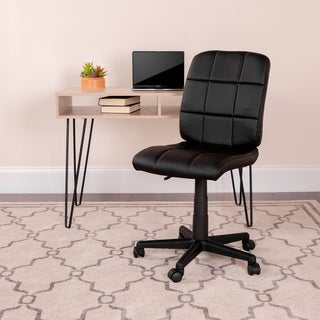 Mid-Back Quilted Vinyl Swivel Task Office Chair - Home Office Chair
