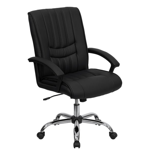 Mid-Back LeatherSoft Swivel Adjustable Height Manager's Office Chair
