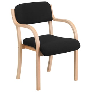 Contemporary Fabric Wood Side Chair with Beech Frame