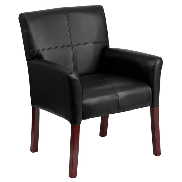 Black Leather Executive Side Chair Or Reception Chair With