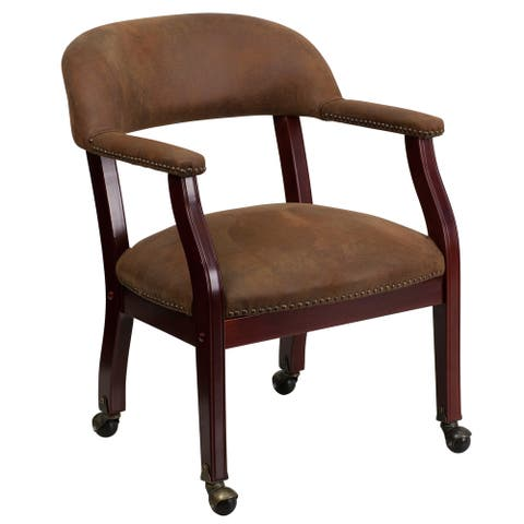 Conference Chair with Accent Nail Trim and Casters