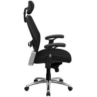 High Back Super Mesh Office Chair with Black Fabric Seat and Knee Tilt Control