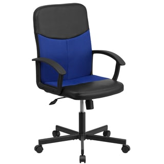 Mid-Back Vinyl Task Chair with Mesh Inserts