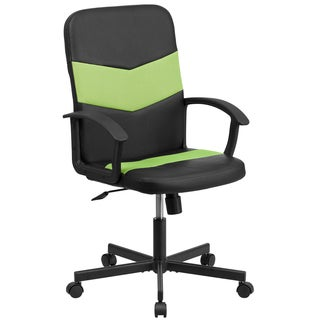 Vinyl Mid-back Task Chair with Mesh Inserts