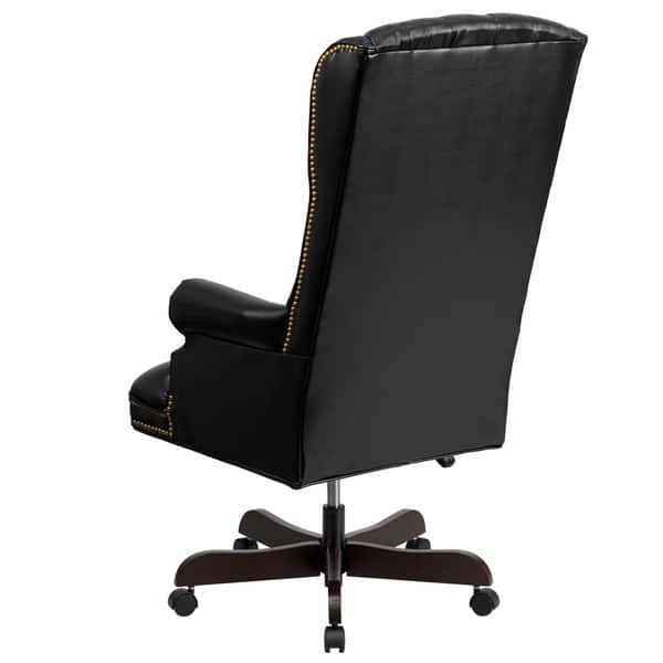 Awesome Shop High Back Traditional Tufted Leather Executive Office Dailytribune Chair Design For Home Dailytribuneorg