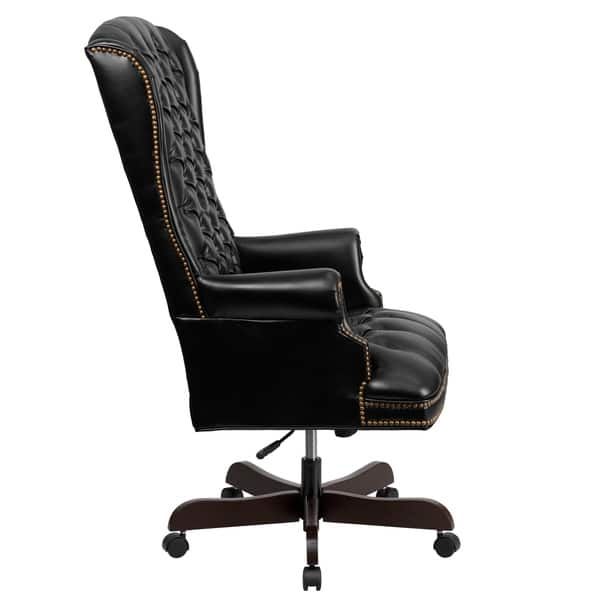Super Shop High Back Traditional Tufted Leather Executive Office Machost Co Dining Chair Design Ideas Machostcouk
