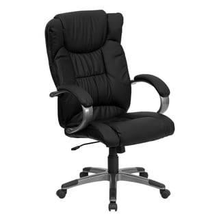 High Back LeatherSoft Soft Ripple Upholstered Executive Office Chair