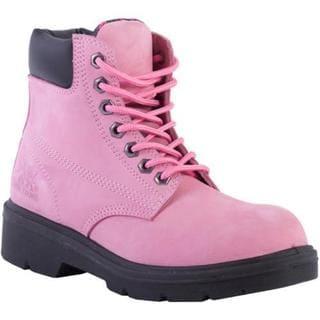 Women's Moxie Trades Alice Steel Toe Work Boot Pink Nubuck Leather