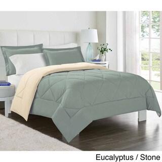 Reversible Down Alternative Comforter and Shams 3-piece Set