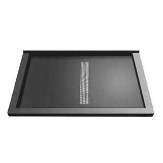 Redi Trench 36 x 48 Shower Pan Center Designer PC Linear Drain Triple Curb