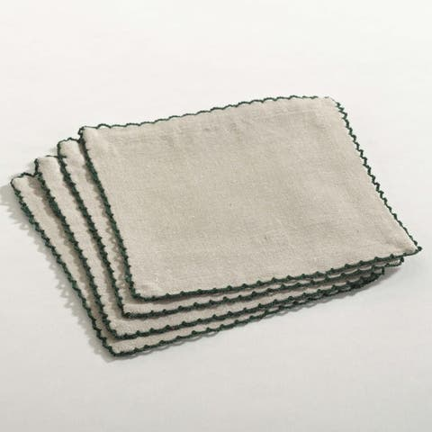 Crochet Scalloped Design Table Linens (set of 4)