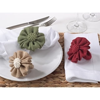 Jute Napkin Ring - set of 4