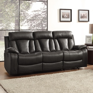 Leather Reclining Sofa by RALSTON BONDED