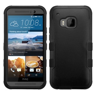 Insten Hard PC/ Silicone Dual Layer Hybrid Rubberized Matte Phone Case Cover For HTC One M9