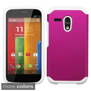 Insten Hard PC/ Silicone Dual Layer Hybrid Rubberized Matte Phone Case Cover For Motorola Moto G(1st Gen)