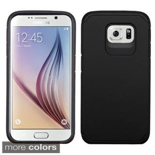 Insten Hard PC/ Silicone Dual Layer Hybrid Rubberized Matte Phone Case Cover For Samsung Galaxy S6
