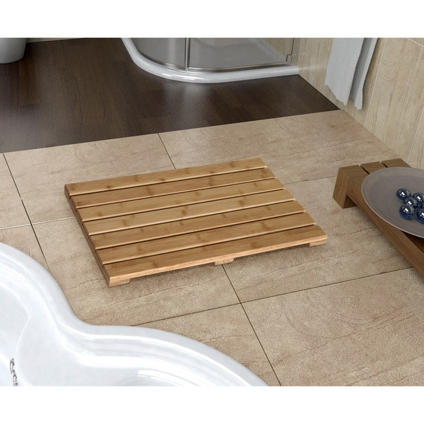 Bamboo Natural Bath Mat