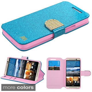 Insten Leather Glitter Phone Case with Stand/ Wallet Flap Pouch/ Diamond for HTC One M9
