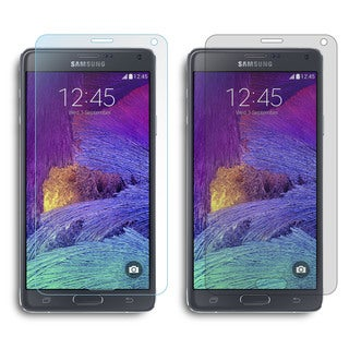 rooCASE 4-pack Screen Protectors (2 Anti-Glare Matte/ 2 HD Clear) for Samsung Galaxy Note 4
