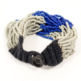 Izta Wrap Blue and White Bracelet (India)