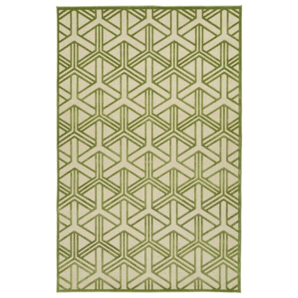 """Indoor/Outdoor Luka Green Dimensions Rug - 8'8"""" x 12'"""