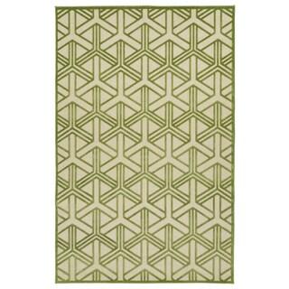 Indoor/Outdoor Luka Green Dimensions Rug (8'8 x 12'0)