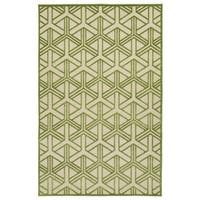 "Indoor/Outdoor Luka Green Dimensions Rug - 8'8"" x 12'"