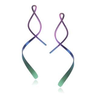 Journee Collection Sterling Silver Handmade Spiral Earpin Earrings